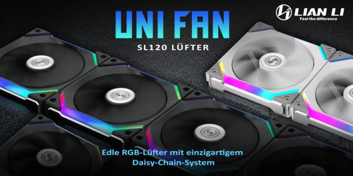 388785 696x348 - Neu bei Caseking: Lian Li UNI FAN SL120 Daisy-Chain-Fans