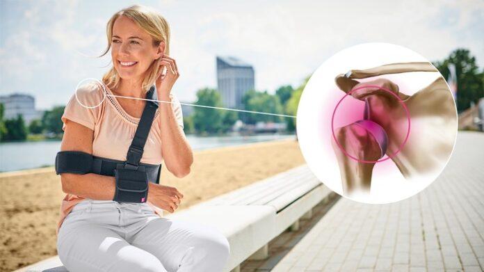 2 Schulter Armfix Anatomie M 375415 696x391 - Anatomie, Diagnose, effektive Therapie - Hilfe für starke Schultern mit Orthesen und Bandagen