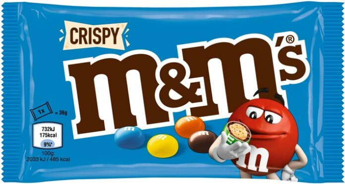 MMS20Crispy2036g 5000159304245 696x371 - Produktrückruf / Betroffen sind einzelne M&M'S Crispy Produkte mit zwei Mindesthaltbarkeitsdaten
