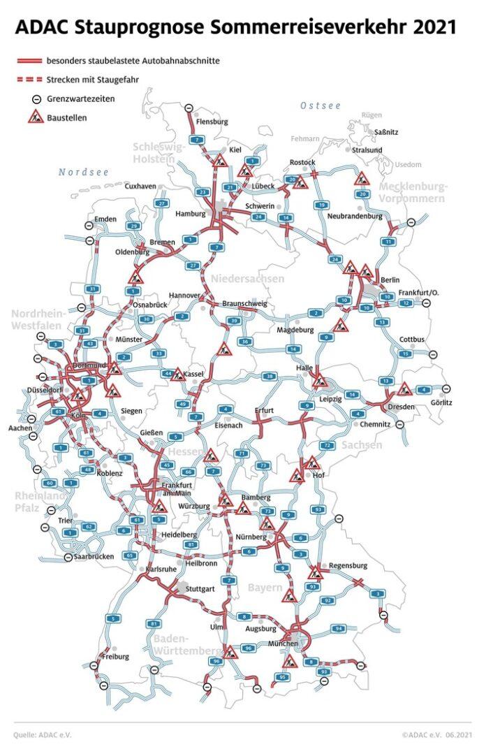 stau sommer21 1 696x1072 - Heimreiseverkehr ab jetzt stärker / Gelassenheit und gute Planung besonders wichtig / Stauprognose für 6. bis 8. August