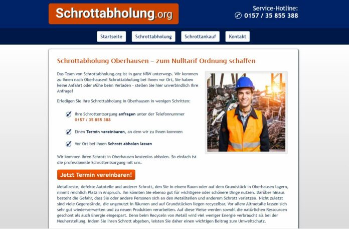 image 1 109 696x456 - Altmetallabholung Oberhausen - Besichtigungstermin vereinbaren und schon kommen die Helfer zu ihnen und bringen Bares mit.